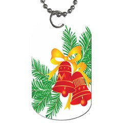 New Year Christmas Bells Tree Dog Tag (one Side)