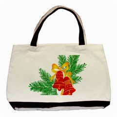 New Year Christmas Bells Tree Basic Tote Bag (two Sides) by Alisyart