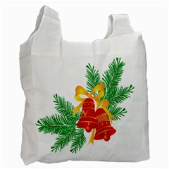 New Year Christmas Bells Tree Recycle Bag (one Side) by Alisyart