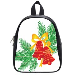New Year Christmas Bells Tree School Bag (small) by Alisyart