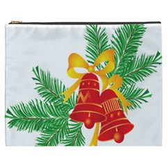 New Year Christmas Bells Tree Cosmetic Bag (xxxl)