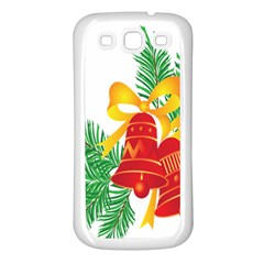 New Year Christmas Bells Tree Samsung Galaxy S3 Back Case (white)