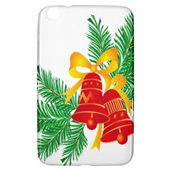 New Year Christmas Bells Tree Samsung Galaxy Tab 3 (8 ) T3100 Hardshell Case