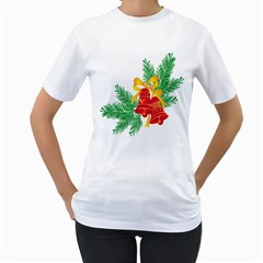 New Year Christmas Bells Tree Women s T Shirt (white)
