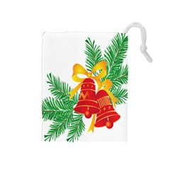 New Year Christmas Bells Tree Drawstring Pouches (medium)