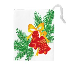 New Year Christmas Bells Tree Drawstring Pouches (extra Large) by Alisyart