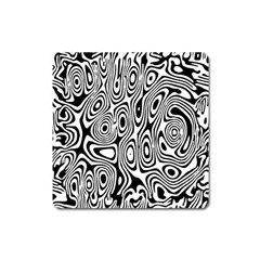 Psychedelic Zebra Black Circle Square Magnet by Alisyart