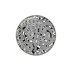 Psychedelic Zebra Black Circle Hat Clip Ball Marker (4 Pack)