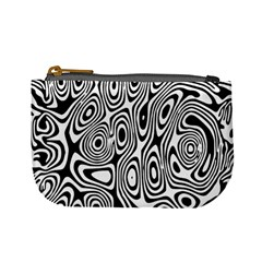 Psychedelic Zebra Black Circle Mini Coin Purses by Alisyart