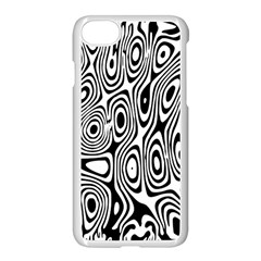 Psychedelic Zebra Black Circle Apple Iphone 7 Seamless Case (white)