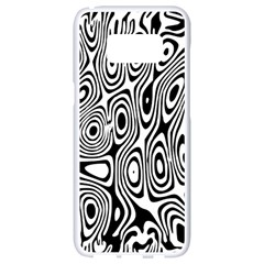 Psychedelic Zebra Black Circle Samsung Galaxy S8 White Seamless Case
