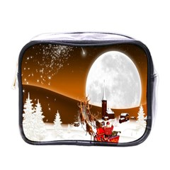 Santa Claus Christmas Moon Night Mini Toiletries Bags