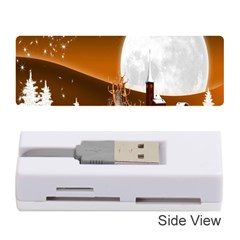 Santa Claus Christmas Moon Night Memory Card Reader (stick)