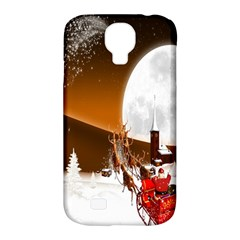 Santa Claus Christmas Moon Night Samsung Galaxy S4 Classic Hardshell Case (pc+silicone)