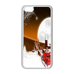 Santa Claus Christmas Moon Night Apple Iphone 5c Seamless Case (white)