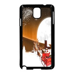Santa Claus Christmas Moon Night Samsung Galaxy Note 3 Neo Hardshell Case (black) by Alisyart