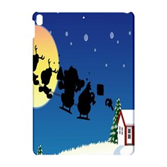 Santa Claus Christmas Sleigh Flying Moon House Tree Apple Ipad Pro 10 5   Hardshell Case by Alisyart