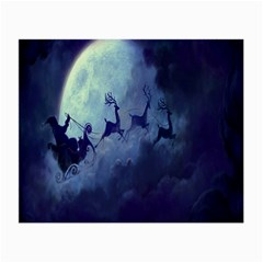 Santa Claus Christmas Night Moon Happy Fly Small Glasses Cloth (2 Side)