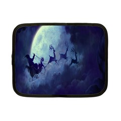 Santa Claus Christmas Night Moon Happy Fly Netbook Case (small)