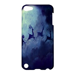 Santa Claus Christmas Night Moon Happy Fly Apple Ipod Touch 5 Hardshell Case