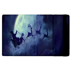 Santa Claus Christmas Night Moon Happy Fly Apple Ipad 3/4 Flip Case by Alisyart