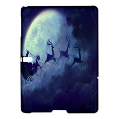 Santa Claus Christmas Night Moon Happy Fly Samsung Galaxy Tab S (10 5 ) Hardshell Case