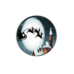 Santa Claus Christmas Snow Cool Night Moon Sky Hat Clip Ball Marker (10 Pack) by Alisyart