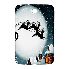 Santa Claus Christmas Snow Cool Night Moon Sky Samsung Galaxy Note 8 0 N5100 Hardshell Case