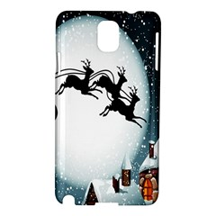 Santa Claus Christmas Snow Cool Night Moon Sky Samsung Galaxy Note 3 N9005 Hardshell Case
