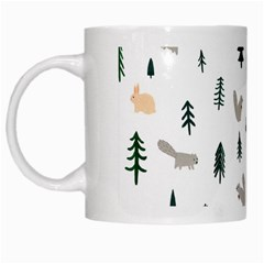 Squirrel Rabbit Tree Animals Snow White Mugs
