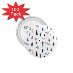 Squirrel Rabbit Tree Animals Snow 1 75  Buttons (100 Pack)