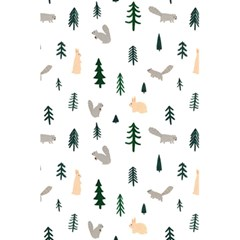 Squirrel Rabbit Tree Animals Snow 5 5  X 8 5  Notebooks by Alisyart