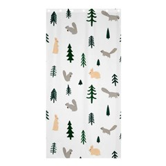 Squirrel Rabbit Tree Animals Snow Shower Curtain 36  X 72  (stall)  by Alisyart