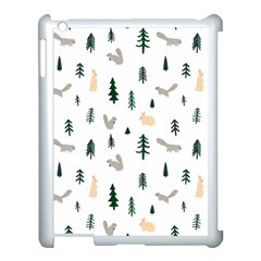 Squirrel Rabbit Tree Animals Snow Apple Ipad 3/4 Case (white)