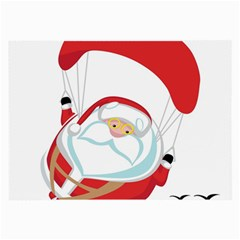 Skydiving Christmas Santa Claus Large Glasses Cloth