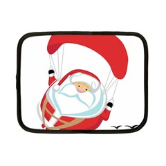 Skydiving Christmas Santa Claus Netbook Case (small)