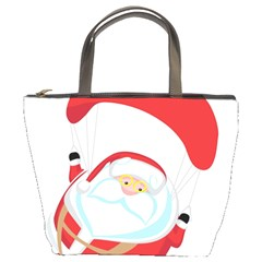 Skydiving Christmas Santa Claus Bucket Bags by Alisyart