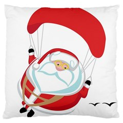 Skydiving Christmas Santa Claus Large Cushion Case (one Side)