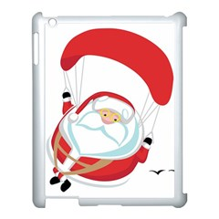 Skydiving Christmas Santa Claus Apple Ipad 3/4 Case (white)