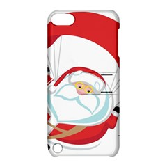 Skydiving Christmas Santa Claus Apple Ipod Touch 5 Hardshell Case With Stand by Alisyart