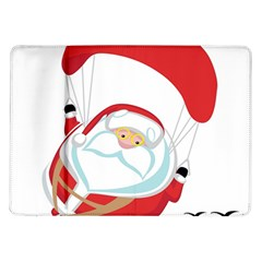 Skydiving Christmas Santa Claus Samsung Galaxy Tab 10 1  P7500 Flip Case by Alisyart