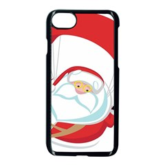 Skydiving Christmas Santa Claus Apple Iphone 7 Seamless Case (black)