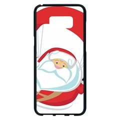 Skydiving Christmas Santa Claus Samsung Galaxy S8 Plus Black Seamless Case