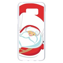 Skydiving Christmas Santa Claus Samsung Galaxy S8 Plus White Seamless Case
