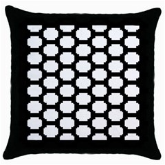 Tile Pattern Black White Throw Pillow Case (black) by Alisyart