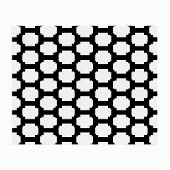 Tile Pattern Black White Small Glasses Cloth by Alisyart