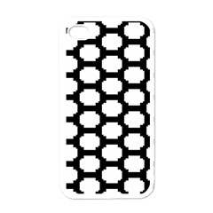 Tile Pattern Black White Apple Iphone 4 Case (white)