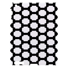 Tile Pattern Black White Apple Ipad 3/4 Hardshell Case by Alisyart