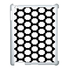 Tile Pattern Black White Apple Ipad 3/4 Case (white)