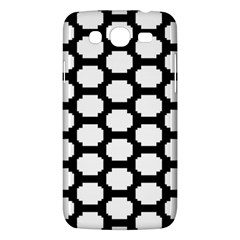 Tile Pattern Black White Samsung Galaxy Mega 5 8 I9152 Hardshell Case